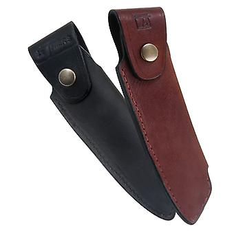 leather holder for knife Le Thiers - Color - Black Direct from France
