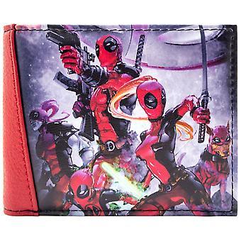 Marvel Deadpool Team Fighting ID & Card Bi-Fold Wallet