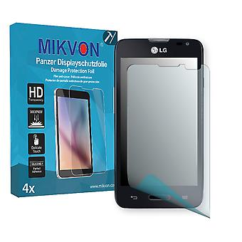LG L65 Screen Protector - Mikvon Armor Screen Protector (Retail Package with accessories)