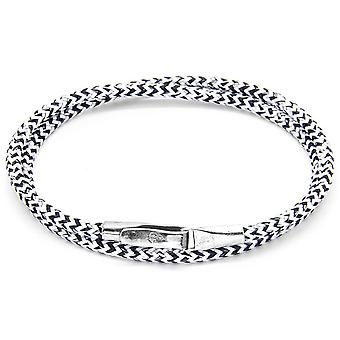 Anchor and Crew Liverpool Silver and Rope Bracelet - White Noir