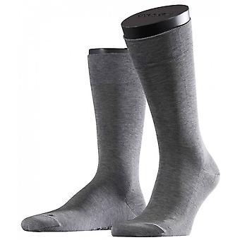 Falke Melange Sensitive Malaga Midcalf Socks - Light Grey