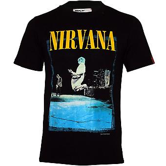 Replay Limited Edition Kurt Jump Photo T-Shirt, Black