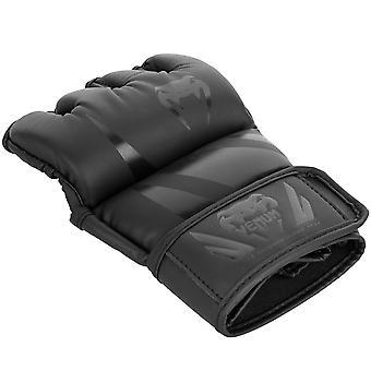 Venum Challenger 4 oz. MMA Gloves without Thumb - Black/Black