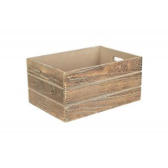 Extra Large Oak effect Wooden Storage Crate