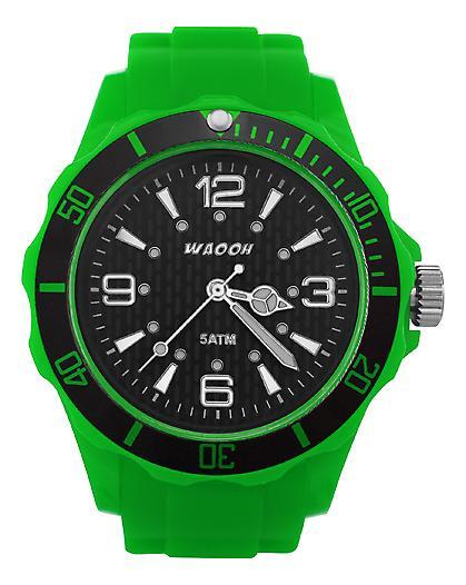 Waooh - Black Dial Watch FC38