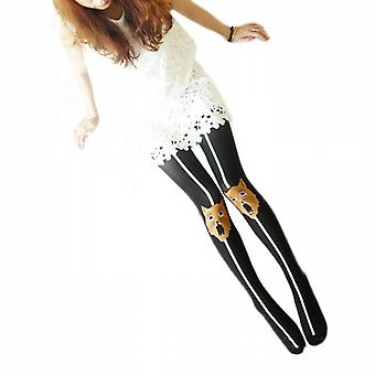 Waooh - Fashion - Pantyhose Grooved Pattern Head Cat