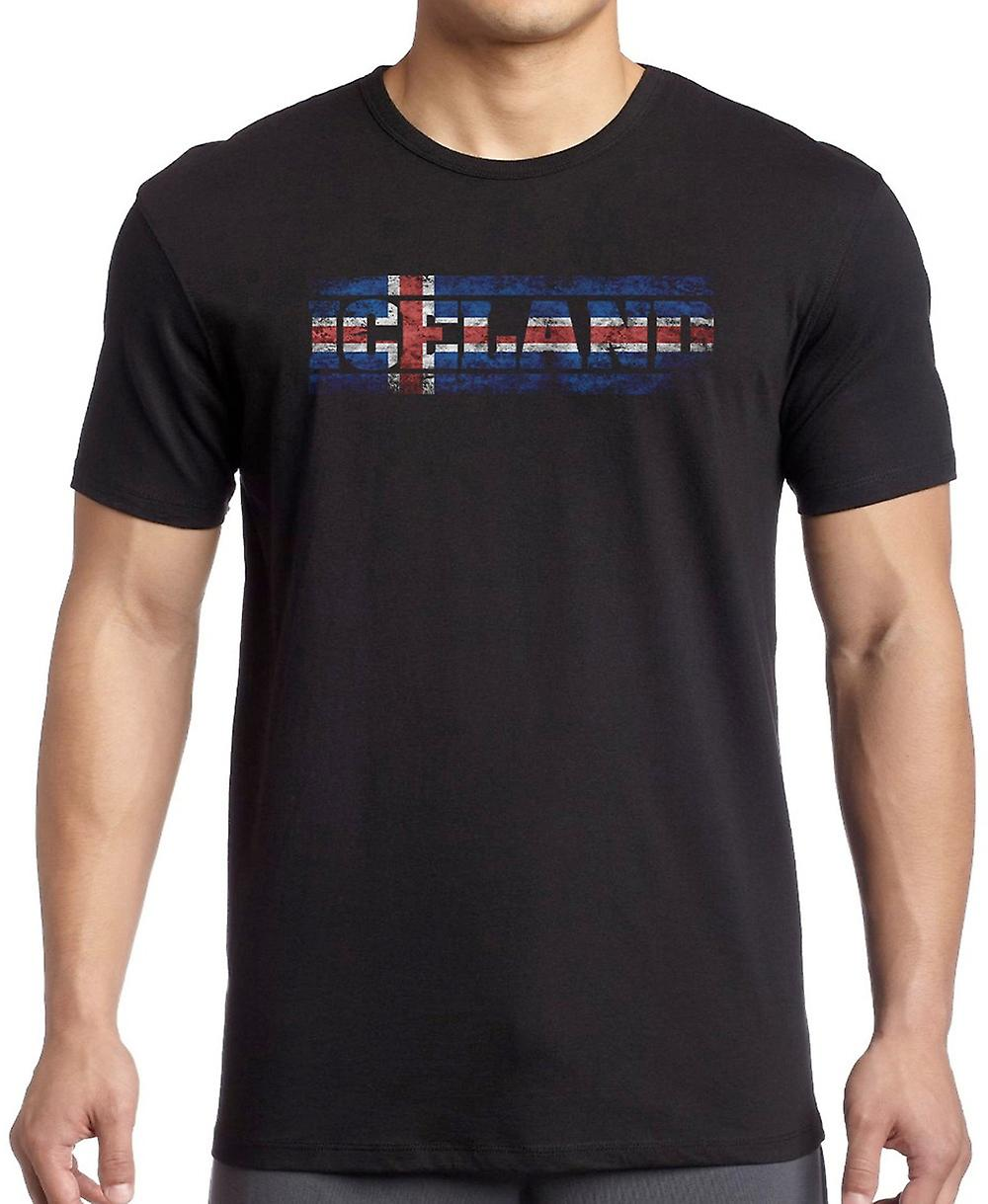 Iceland Icelandic Flag - Words T Shirt  - 3xl