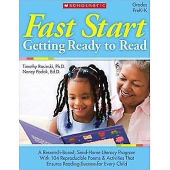 Fast Start: Getting Ready to Read: Grades PreK-K [With 30 Motivational Stickers]