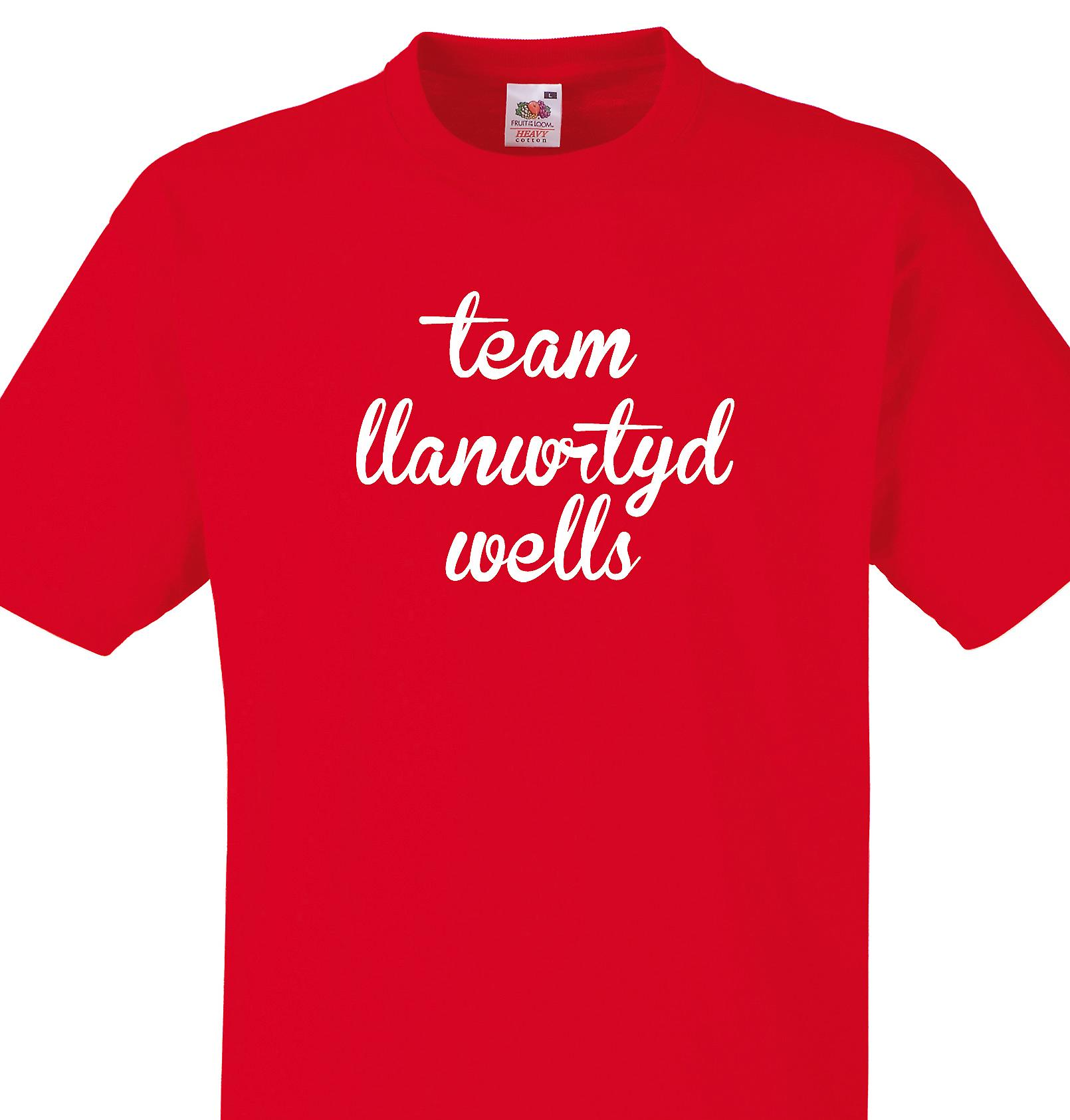 Team Llanwrtyd wells Red T shirt