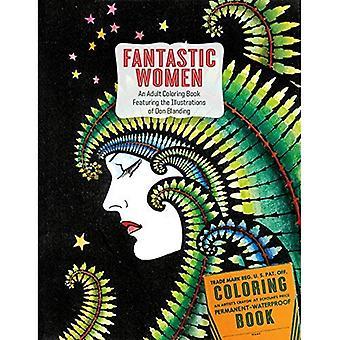 Fantastische vrouwen: Een volwassene Kleurboek met de illustraties van Don Blanding