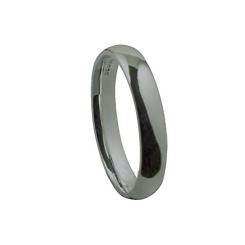 Platinum 4mm plain Court shaped Wedding Ring