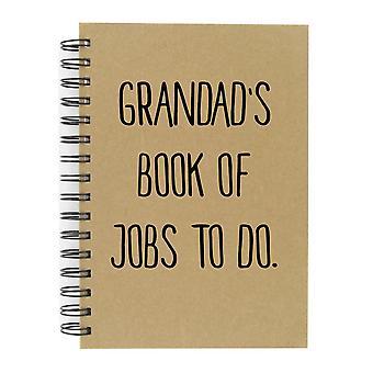 Grandads bok jobber å gjøre A5 Kraft notisbok