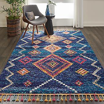 Nomad Nourison NMD05 Navy  Rectangle Rugs Traditional Rugs