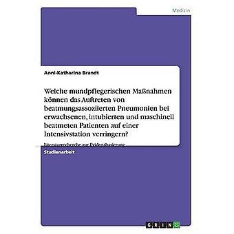 Mundpflegerische Massnahmen Zur Verringerung Von Beatmungsassoziierten Pneumonien Auf Der Intensivstation av Brandt & AnniKatharina