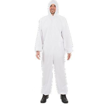 Orion costumes Mens blanc Hazmat costume Lap Coat salopette Déguisements costume