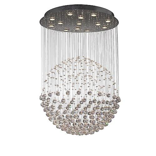 Dar EXC1750 Excelsior Contemporary 13 Light Halogen Asfour Crystal Pendant