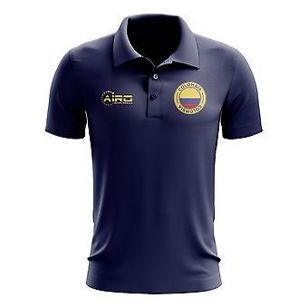 Colombia fotboll Piké tröja (marinblå)