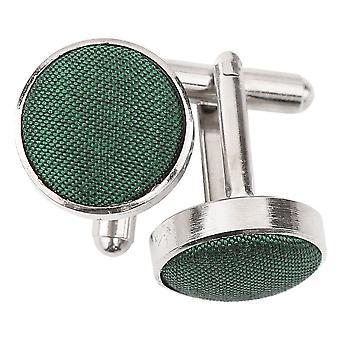 Emerald Green shantung mansjettknapper