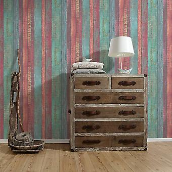 A.S. Creation AS Creation Distressed Wood Panel Pattern Wallpaper Faux Effect Beam 319931
