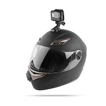 Casco de la motocicleta soporte de barbilla plato giratorio botón de montaje de acción cam accesorios gopro hero6/5/4 negro