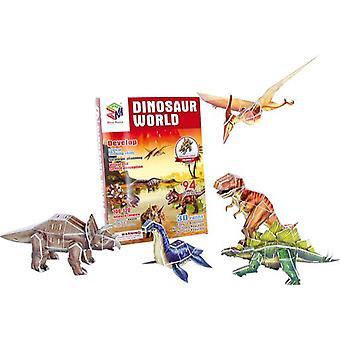 Kan 3D Puzzle verden av dinosaurer (babyer og barn, leker, brettspill)