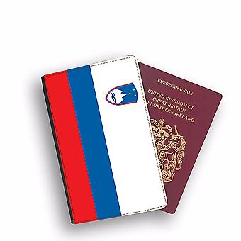 SLOVENIA Flag Passport Holder Style Case Cover Protective Wallet Flags design