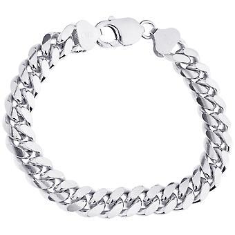 Sterling 925 zilveren tank Chain Bracelet-MIAMI CURB 10mm