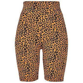 Urban Classics shorts femininos cintura alta ciclo AOP