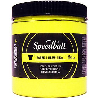 Speedball Fabric Screen Printing Ink Fluorescent 8oz-Yellow FSPIF8-45653