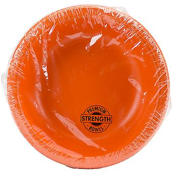 Paper Bowl 20oz 20/Pkg-Sunkissed Orange PPRB-73282