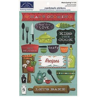 Kitchen Cooking Cardstock Stickers 5.5