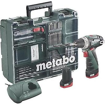 Metabo PowerMaxx BS Basic Set Mobile Werkstatt Cordless drill 10.8 V 2 Ah Li-ion + spare battery, + case, + accessories
