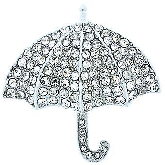 Broscher lagra stora Swarovski Crystal paraply brosch Pin
