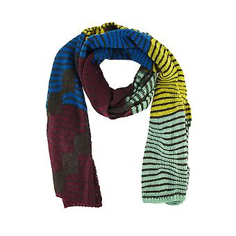 Super Soft Wavy Stripe Color Block Knit Scarf