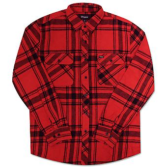 Brixton Bowery Flannel L/S Shirt Red Black