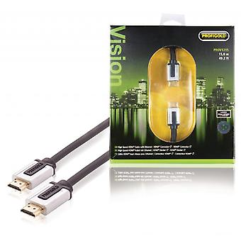 ProfiGold high speed HDMI kabel med Ethernet-HDMI-tilslutningen HDMI forbindelsen 15,0 m, sort