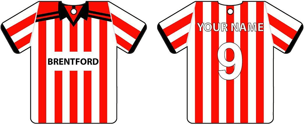 Personalised Brentford Football Shirt Car Air Freshener