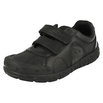 Drenge Clarks Dinosaur skole sko Bronto skridt