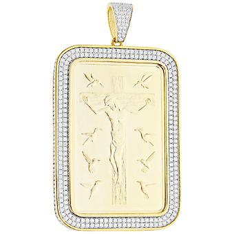 Premium Bling - 925 sterling silver 10 commandments pendant gold
