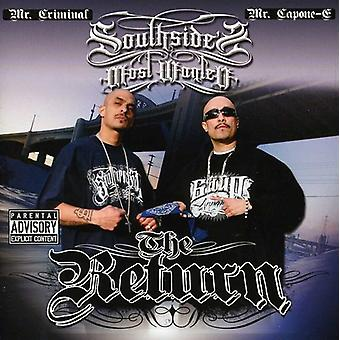 Southside's Most Wanted - tilbagevenden [CD] USA importerer