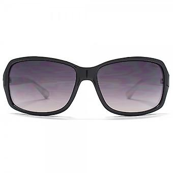 SUUNA Holly Square Wrap Sunglasses In Black