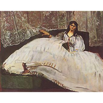 Edouard Manet - Woman in Dress Poster Print Giclee