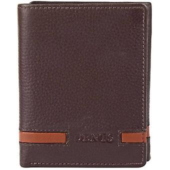 Bosses Pebble Grain cuir Trifold Wallet - Tan chocolat/anglais