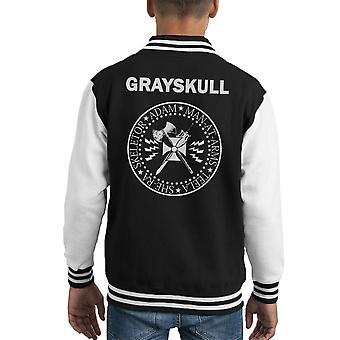 Chaqueta Varsity de Ramones Grayskull le hombre Logo infantil