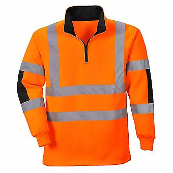 Portwest - Xenon Hi-Vis Sicherheit Workwear Langarm Rugbyshirt