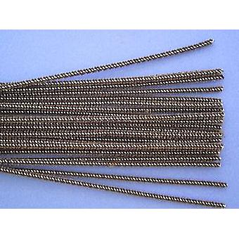 25 Skinny Brown Craft Pipe Cleaners   Chenille Stems