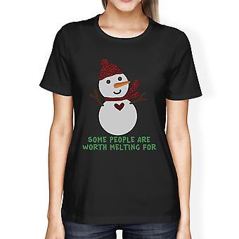 يستحق ذوبان ثلج القميص الشتوية النسائية الرسومات المحملة الهدايا