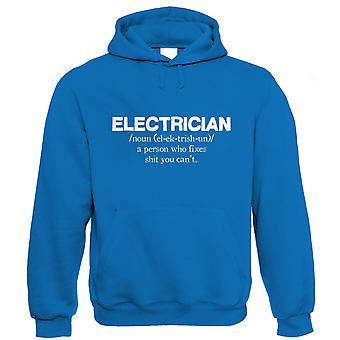 Vectorbomb, Electrician, Mens Funny Hoodie