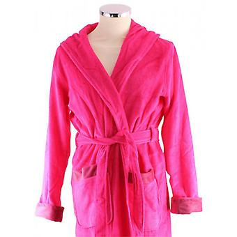 Bown of London Fuchsia Berry Luxury Long Dressing Gown - Pink