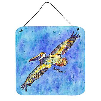 Carolines skatter 8377DS66 fågel - Pelican Aluminium metall vägg eller dörr Hangin